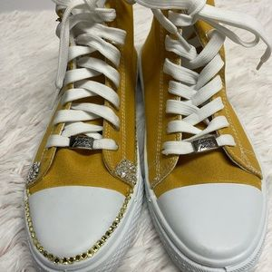 Baby Phat Canvas Yellow fashion High Tops Sz 7